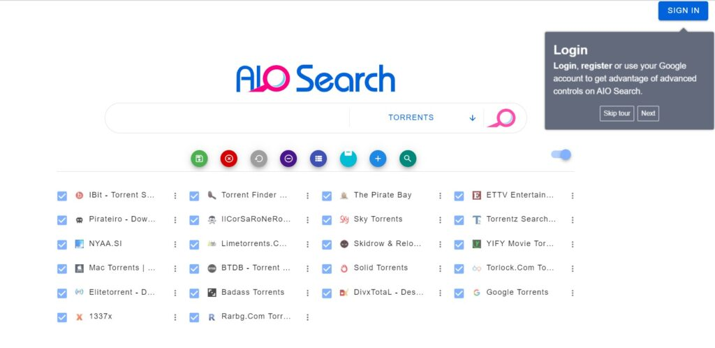 AIO Search is one of the best torrent search engine site for torrent download. It rightfully earns its place in our list of the top 10 torrent search engine sites.